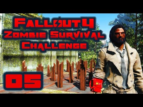 Let's Play Fallout 4: Zombie Survival Challenge - Part 5 - Supply Run