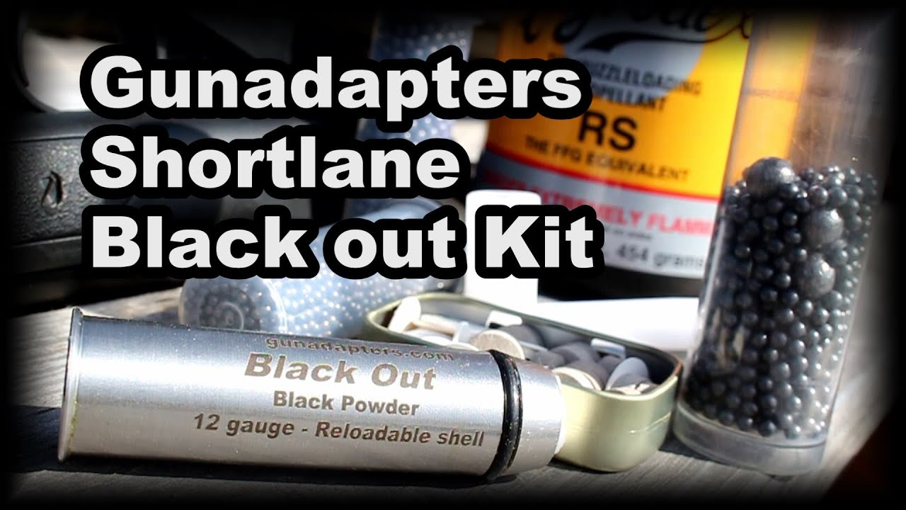 Gunadapters Black Out Reloadable Shotgun Shell