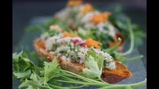 Sweet Potato and Bulgur Salad Boats - 100% Vegan - Magda
