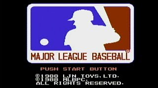 Major League Baseball - NES Gameplay