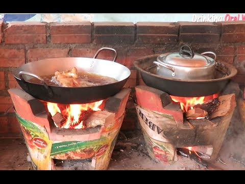 Cooking Lunch Food at Phnom Reap Resort in Cambodia Part 01
