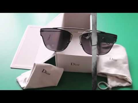 d660c43806da6 Dior 0204s Black Sunglasses Unboxing by Christian Dior - YouTube