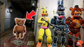 ANIMATRONICS vs EVIL SCARY TEDDY BEAR! (GTA 5 Mods FNAF RedHatter)