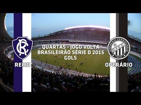 Gols - Remo 3 x 1 Operário-PR - Brasileirão Série D - 18/10/2015