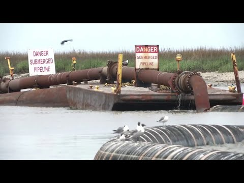 Dredging Begins In Jekyll Creek