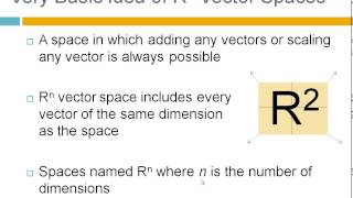 What is a Vector Space?