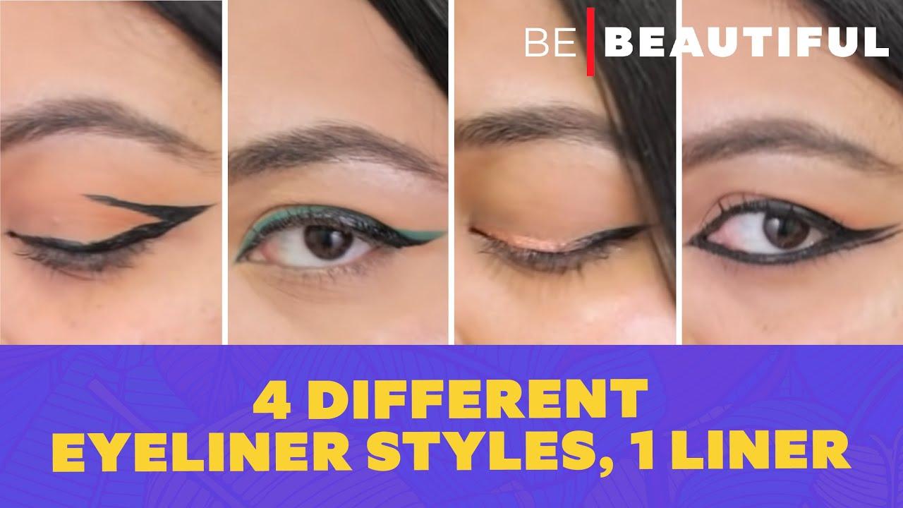 4 Different Eyeliner Styles, 1 Liner   Easy Eyeliner Tutorial for Beginners   Be Beautiful