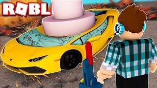 MY CAR WAS DESTROYED IN ROBLOX!!
