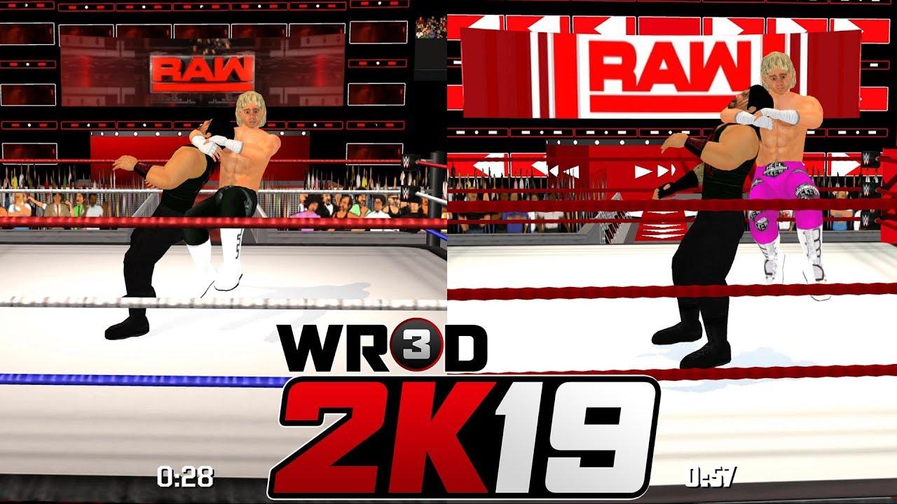 WR3D 2K19 vs WR3D 2K18 Comparision + Animated Arenas!