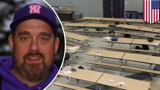 School shooting stopped: Brave Washington teacher tackles Magnum-wielding teen gunman: TomoNews