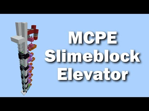 MCPE Compact Up and Down Slimeblock Elevator