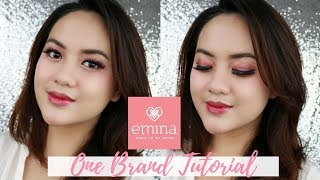 EMINA ONE BRAND MAKEUP TUTORIAL + REVIEW JUJUR (on acne prone skin)