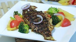 ഓവനില്ലാതെ എളുപ്പത്തിൽ ഒരു Tasty Grilled Fish || രുചിയൂറും Tawa ഗ്രിൽഡ് ഫിഷ് || Recipe : 203