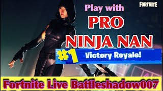 Fortnite Live Play with PRO NINJA NAN | Free V-Bucks Giveaway