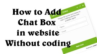 How to Add Chat box in website without coding (hindi & urdu)