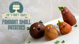 How To Make Small Potatoes Fondant Toppers How To Cake Tutorial