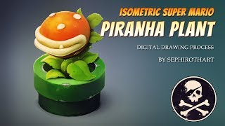 Fan Art #4 | By Sephiroth Art | Isometric Mario Plant