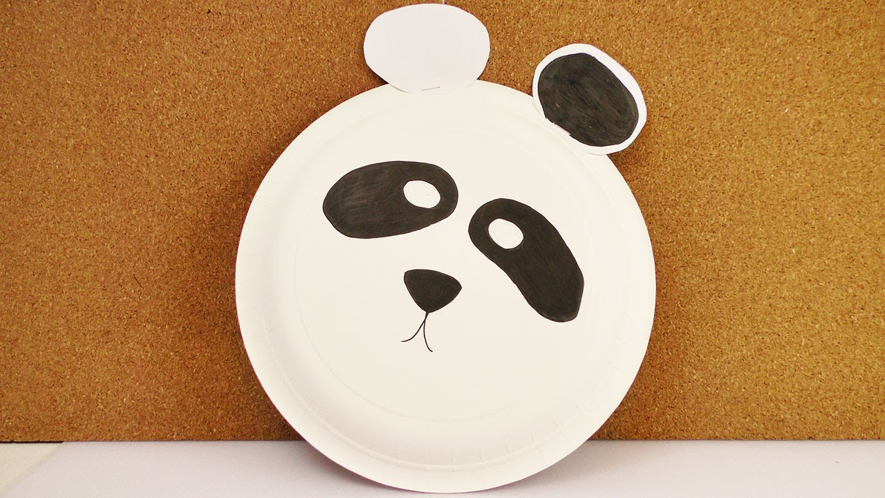 Karneval Panda Maske Aus Pappe Kreative Verkleidung Zum