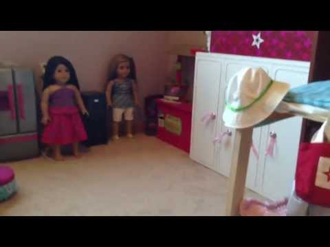 My American Girl Doll Room Tour!!