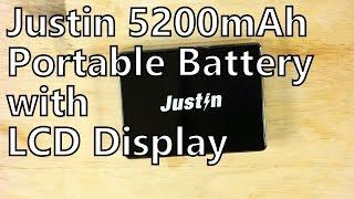 Review: Justin 5200mAh Portable Battery Powerbank with LCD Display