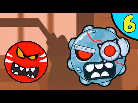 Несносный КРАСНЫЙ ШАР против злодеев в масках #6. Мрачная фабрика 2. Мультик Red Ball на Игрули TV