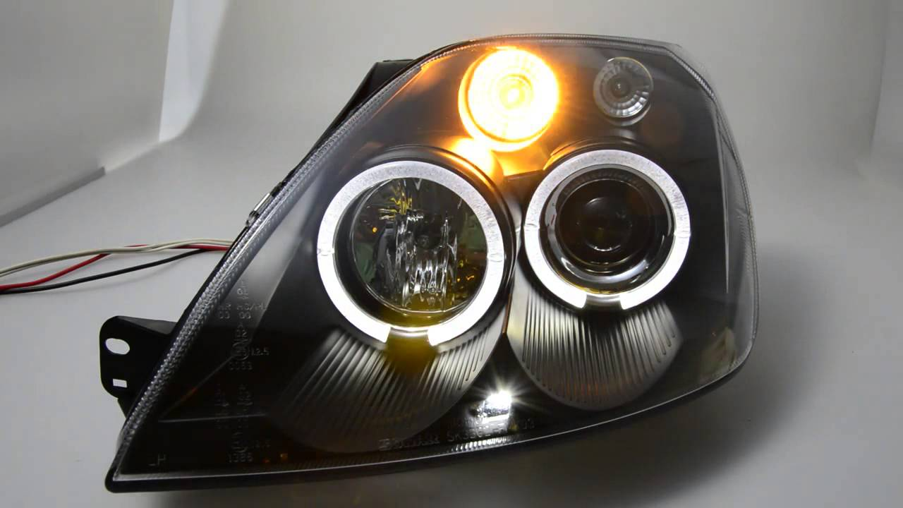 Angel Eye Headlight For Ford Fiesta Mk6 Led Helo Rims