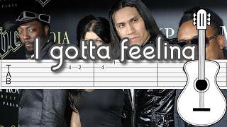 The black eyed peas - i gotta feeling | guitar tutorial en guitarra how to play