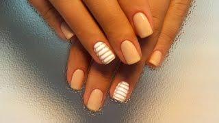 Дизайн ногтей гель-лак shellac - Роспись ногтей (жалюзи) (видео уроки дизайна ногтей)