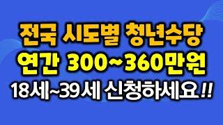 전국 시도별 청년수당 연간 300~360만원 18세~3…