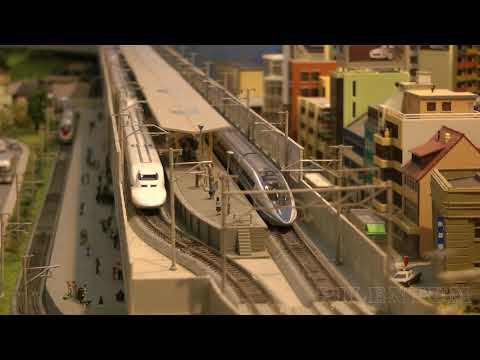 High-Speed Trains in Japan: KATO N Scale Model Railway Layout 鉄道模型 高速鉄道 東海道新幹線