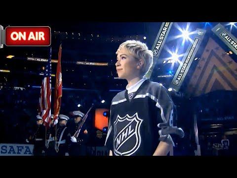 Carly Rae Jepsen - O Canada LIVE at LA NHL All-Star Game 2017