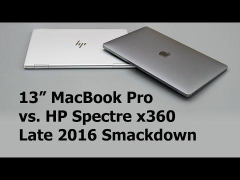13 MacBook Pro vs. HP Spectre x360 Late 2016 Comparison Smackdown