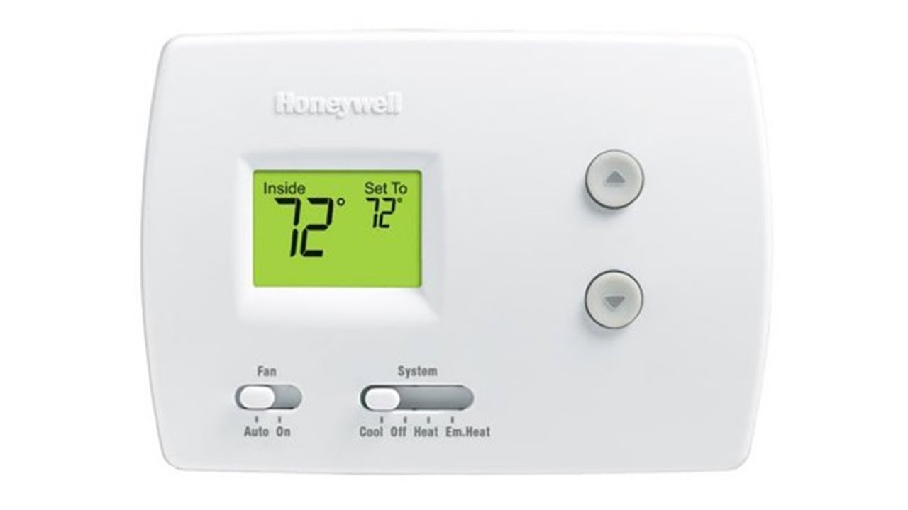 Heat Cool Honeywell Digital Heat Cool Pump Thermostat Rth3100c1002 Youtube