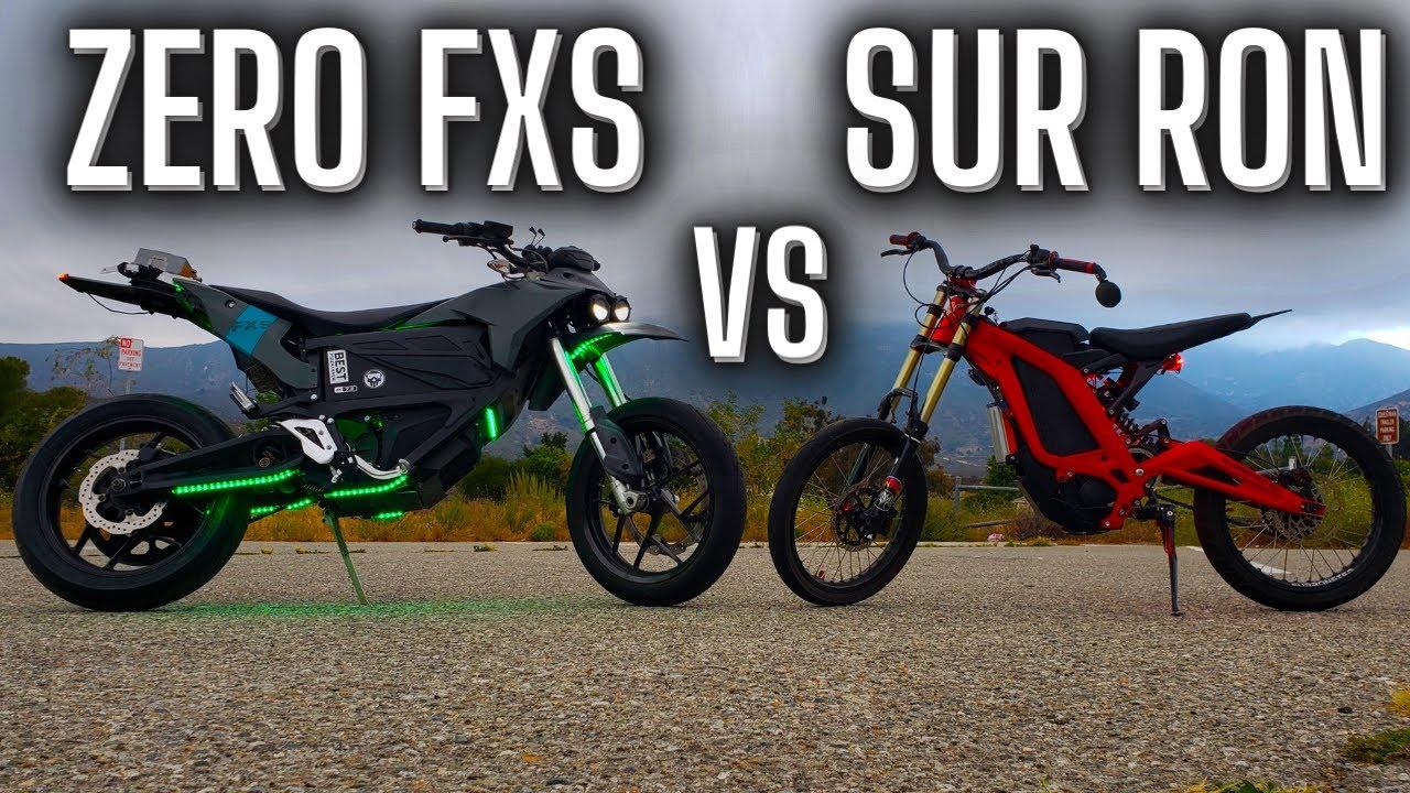 Download ZERO FXS vs 72v Sur Ron // Drag Race & Wheelies