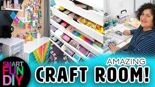 How I Organize My Craft Supplies 😍  2019 Craft Room Tour + craft room organization