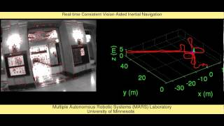 Real-time Consistent Vision-Aided Inertial Navigation: Demonstration over an indoor environment