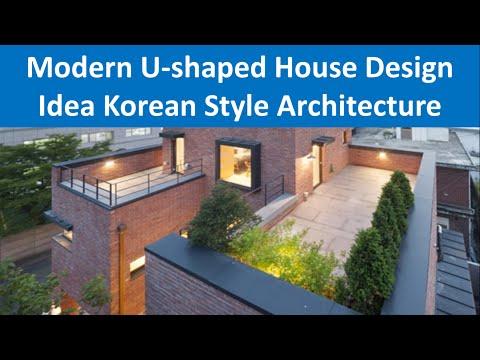 Modern U-shaped House Design Idea Korean Style Architecture