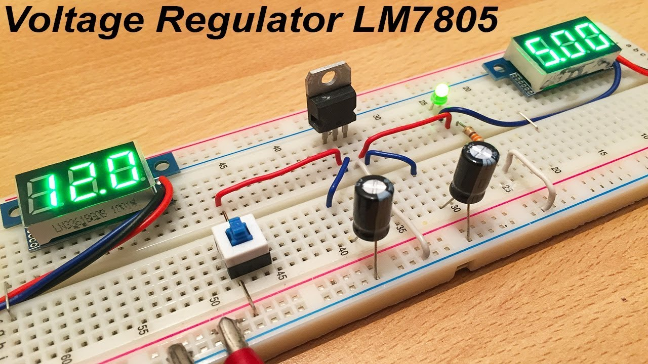 Lm7805 Voltage Regulator Tutorial By Ste Youtube Circuit Diagram Of 7805 Electronicprojects Electronic