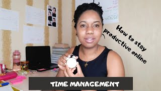 HOW TO STAY PRODUCTIVE WITH ONLINE SCHOOL | Time Management Tips