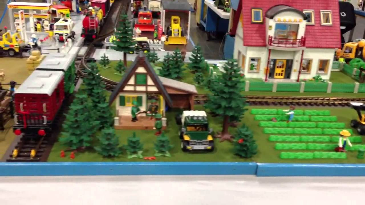 Playmobil train layout - YouTube |Playmobil Train Layouts