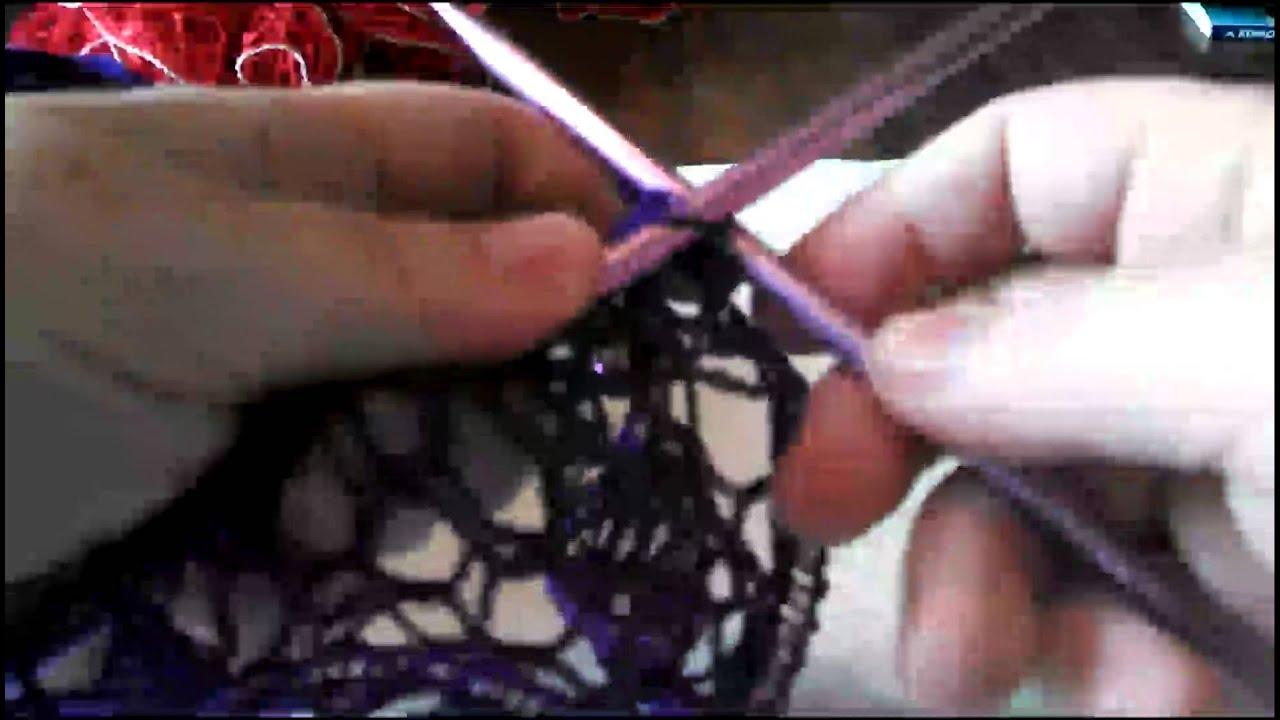 Knitted Sashay Ruffle Scarf Tutorial Youtube