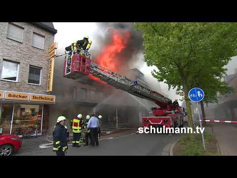 Goch Brand 13 09 2017 Wohn Geschaeftshaus