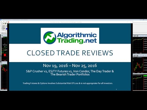Algorithmic Trading Review: 11/19/16  - 11/25/16