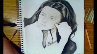 speed drawing of kristen Stewart ( Bella Swan ) fr