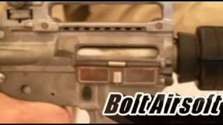 Bolt Airsoft B4A1 bolt bolwback test video