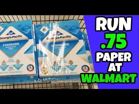 RUN Deal  75 Printer Paper at Walmart
