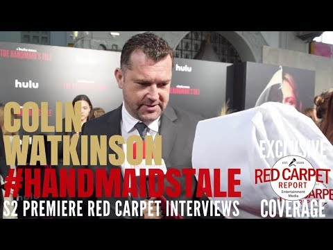 Colin Watkinson interviewed at the premiere of Hulu's The Handmaid's Tale S2 #ResistSister