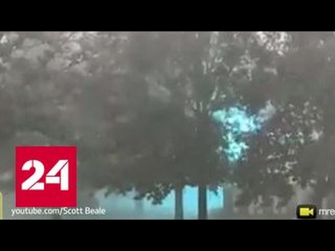 Житель американского штата Огайо снял на видео огромную шаровую молнию