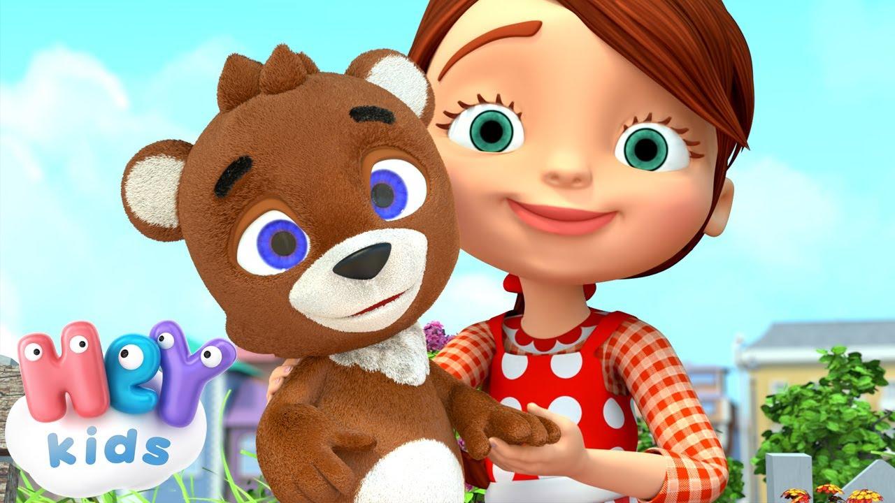 Teddy Bear, Teddy Bear, Turn Around song 🧸 HeyKids - Nursery Rhymes & Lullabies