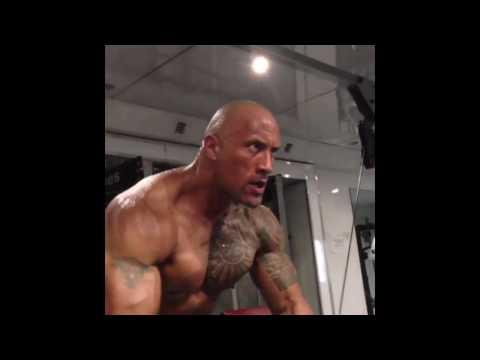 Dwayne'The Rock' Johnson Workout focus guys